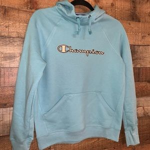 NWOT Champion light blue hoodie, size xs